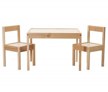 conjunto silla y mesa infantil de madera