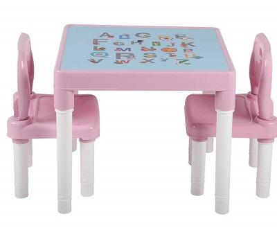 juego de mesa y sillas de plastico para niños COMPRAR