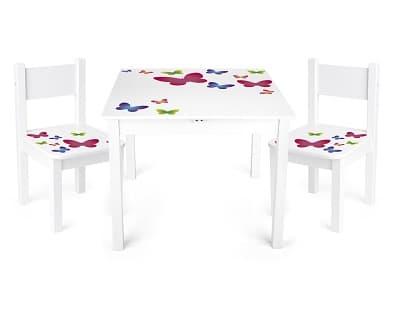 juego de mesa y sillas para niños de madera precios