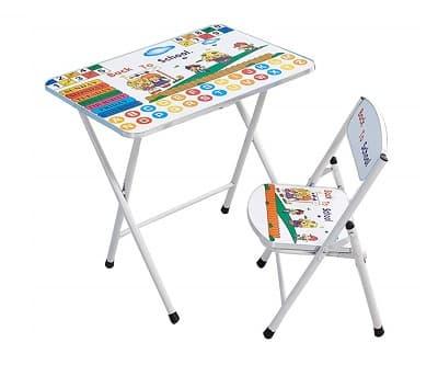juego de mesas y sillas plegables infantiles