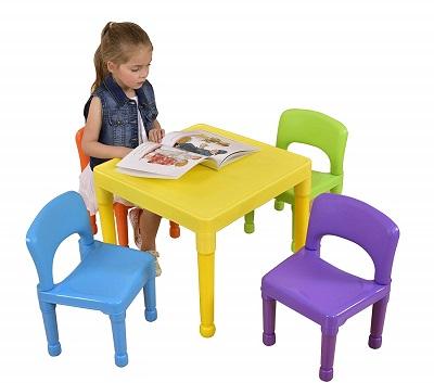 mesa y silla infantil plastico