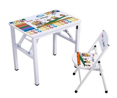 mesa y silla para niños plegables