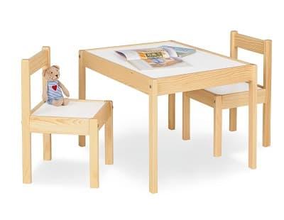 mesa y sillas niños de madera ofertas