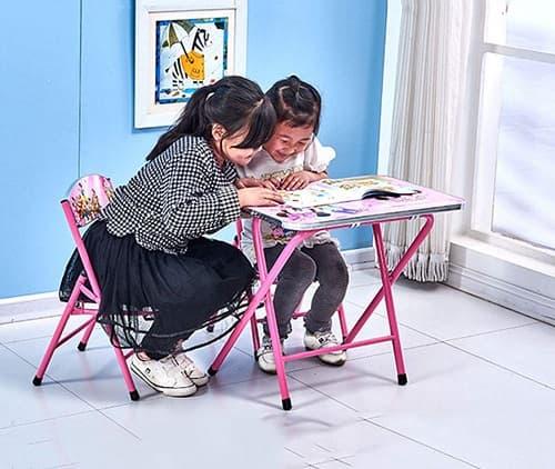 mesas y sillas infantiles plegables