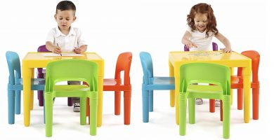 mesas y sillas para niños de plastico