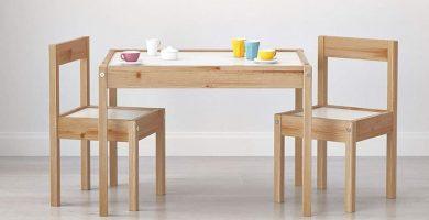 mesas y sillas para niños madera comprar
