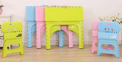 mesas y sillas plegables para niños comprar