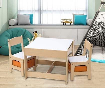 mobiliario infantil mesas y sillas madera