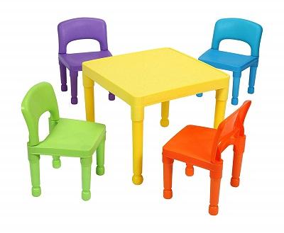 silla y mesa de plastico niños