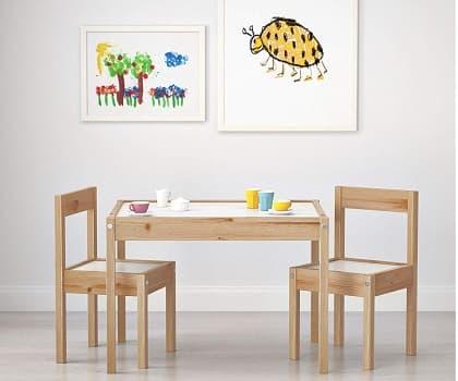 venta mesas y sillas madera para niños